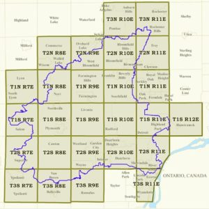Township map for the Rouge River waterway