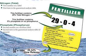 Label for fertilizer